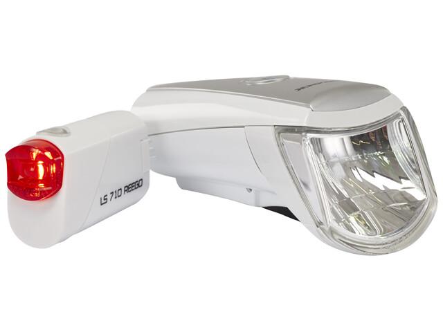Trelock LS 750 i-go / 710 Beleuchtungsset weiß
